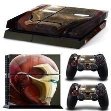 PS4 Skin & Controllers Skin Vinyl Sticker For PlayStation 4 Iron Man Superhero