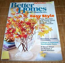 Better Homes and Gardens Magazine September 2011 Fall, Autumn, Food, Recipes