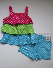 Gymboree Ice Cream Sweetie Tiered Ruffle Top & Polka Dot Shorts Set Girls 6 NWT