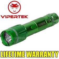 VIPERTEK VTS-T03 Metal 900 MV Stun Gun Rechargeable LED Light Taser Case Green