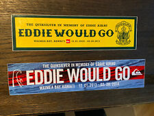 Two- Eddie Would Go Quicksilver 2010-11 And 2013-14 Bumper Stickers