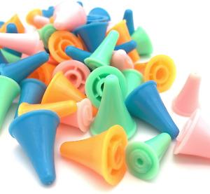 30 Pcs Colorful Knit Knitting Needles Point Protectors 2 Sizes DIY Art Sewing