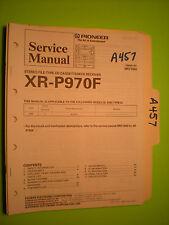 Pioneer xr-p970f service manual original repair book stereo receiver tuner
