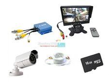 Kit videosorveglianza completo di mini dvr telecamera monitor cavo e scheda sd