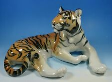 Lomonosov Russian Porcelain Tiger Big Cat Large Animal Model