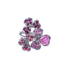 Kenneth Jay Lane Crystal Flower Cluster Ring ADJUSTABLE ~Very Beautiful~