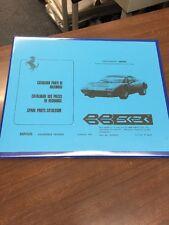 Ferrari BB 512i Berlinetta Boxer Parts Manual Catalogue