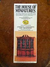 X-Acto HOUSE OF MINIATURES MODEL KIT No. 40048 CHIPPENDALE BREAKFRONT CIRCA 1760