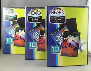 30 x Fellowes Neato DVD/Game Slim Cases - Black - Brand new Sealed