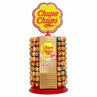 CHUPA CHUPS 200 LOLLIES WITH DISPLAY WHEEL STAND ASSORTED LOLLIPOPS KIDS CANDY