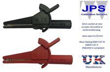 Crocodile Aligator Clips Red Black 1000V Multimeter Clampmeter Tester JPSS176