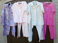 8 Piece Lot Vintage Pajama Sets FLAWS CUTTER Pants Tops Victoria's Vanity Elaine