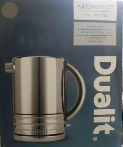 Dualit 72926 Architect Kettle, Polished Steel/Grey