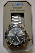 New Casio MTD120D-8A Men's Analog Stainless Steel Sports Watch 50m Diver - DENTS