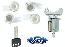 Ford Econoline 1992-1995 Chrome Ignition & 4 Chrome Door Lock Set-2 New Keys