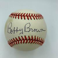 Bobby Brown Signed Autographed Official Major League Baseball