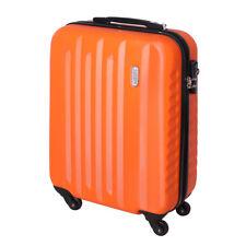 Handgepäck Hartschalen Reise Koffer Trolley Bordgepäck 4 Rollen 30 Liter Orange