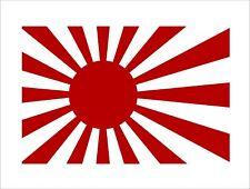 New Rising Sun Flag Decal Japan Graphic Hard Hat Helmet Car Bumper Sticker