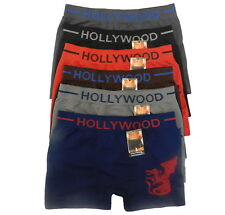 6 MEN'S Seamless Boxer Briefs Microfiber HOLLYWOOD DRAGON Compression Underwear