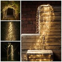200LED Tree Vine Lamp Waterfall Fairy String Copper Wire Lights Xmas Party Decor