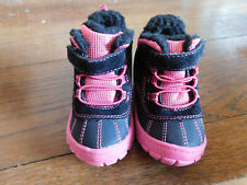 Garanimals Toddler Girls Faux Fur Lined Winter Slip on Boots Pink Black EUC sz 5