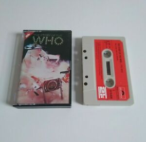 THE WHO STORY OF THE WHO LONG PLAY CASSETTE TAPE 1975 RED PAPER LABEL POLYDOR UK