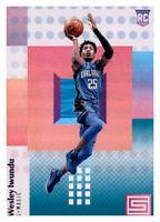 2017-18 Status Blue Teal Wes Iwundu Magic #119 NBA Rookie RC Parallel PWE