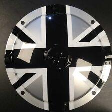 "Spare wheel hub cap Union Jack black/silver 10"" 4 hole Innocenti logo Lambretta"