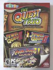 The Quest Trio Jewels, Cards and Tiles. PC Game CD-ROM (E) 2009