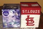 Handmade Needlepoint Plastic Canvas Tissue Box Cover  St. Louis Cardinals  MLB