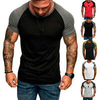Men Casual Short Sleeve Camouflage T-shirt Training Slim Fit Top Muscle Tee
