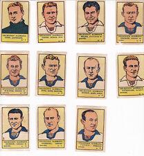 Coleccion 11 cromos Año 1941 SELECCIÓN ALEMANA DE FUTBOL (Editorial Valenciana)