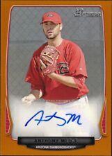2013 Bowman Prospect Auto Orange #BPA-AM - Anthony Meo [066/250] Rookie