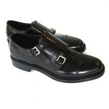 J-3302155 New Brioni Black Patent Double Buckle Shoe Size US 11 Marked 10