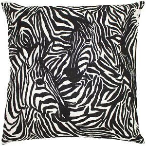 Hidden Zebra black cushion covers by riva home