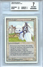 MTG Unlimited White Knight Card NM BGS 7.0 NM Magic the Gathering WOTC card1993