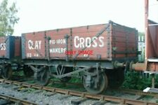 PHOTO  12 TON UNFITTED 5-PLANK OPEN GOODS WAGON NO1112 OF CLAY CROSS PIG IRON MA