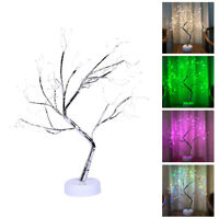 LED Birch Twig Tree Warm White Multicolor Light Branches Tabletop Holiday Decor