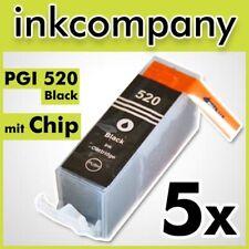5 CANON Patronen mit Chip PGI-520 bk black MP 980 MP 990 MX 860 NEU