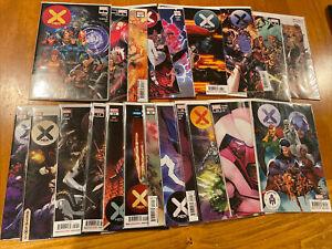 Marvel X-Men 1-21 Complete Set Series Run Hickman X Of Swords NM