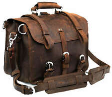 J.M.D Luxury Men's Real Crazy Horse Leather Shoulder Attache Briefcase Handbag