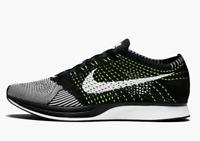 Nike Flyknit Racer Black White Volt Mens Trainer Size UK 9 EU 44