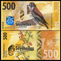 SEYCHELLES: 500 Rupees Banknote in UNC condition P-new  (2016) Hybrid Papermoney