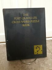 Old 1930 Cross Word Puzzle Book & Mammoth Wall Puzzles The Post Graduate 1st Ed