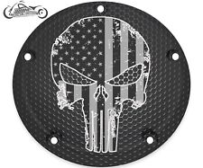 HARLEY DAVIDSON TIMING COVER BIG TWIN CAM, MILWAUKEE 8, SPORTSTER PUNISHER SKULL