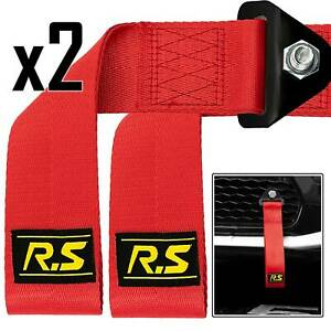 2X US Car Towing Rope Tow Strap Universal Racing Sport Drift +Fixing Bolt D Ring