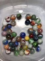 Vintage Antique Marbles Lot Peltier Akro Agate CAC Alley Agate ?