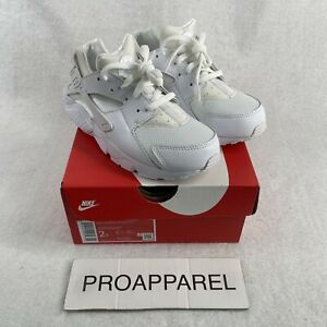 Toddler Nike Huarache Run Casual Shoes White/Pure Platinum 704949-110 Size 2Y