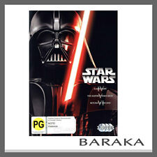 STAR WARS Original Trilogy 4, 5 & 6 DVD set 4 - 6 R4 New IV + V + VI 3 Movies