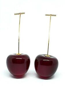 Cherry Fruit Earrings Burgundy Sweet Cherry Resin Drop Dangle Earrings Jewelry